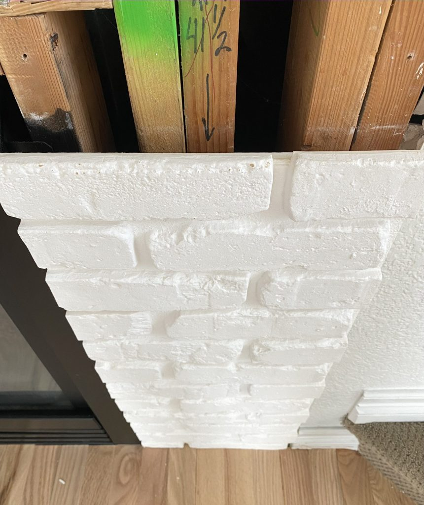 White Brick Fireplace Makeover Before After Misty Kingma